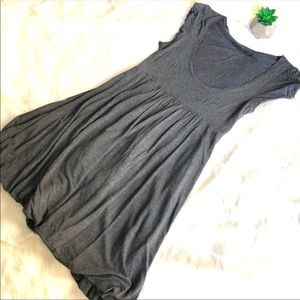Zara Basics Gray Scoop Neck Dress